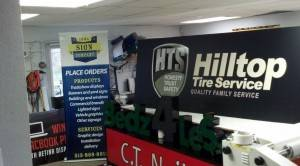 Hilltop Tire Service Indoor Custom Banners Iowa Sign Company