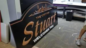 City of Stuart Welcomes You Sign Iowa Sign Company