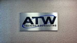 Acrylic Lettering Mounted Indoor Signage Iowa Sign Company