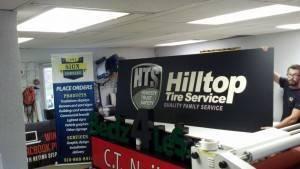 Des Moines Hilltop Tire Service Custom Banners