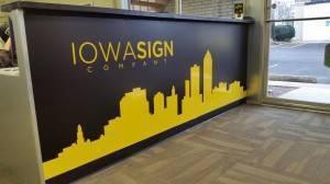 Iowa Sign Company Custom Built Entryway Sign