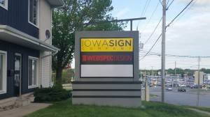 Iowa Sign Company and Webspec Design Monument Sign Des Moines