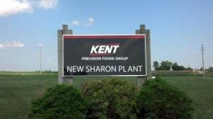 Kent Precision Foods Group Outdoor Banner Sign, Iowa Sign Company