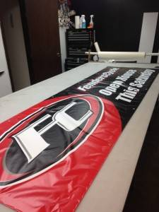 Fenders Cycle Hanging Banner Iowa Sign Custom Signs Des Moines